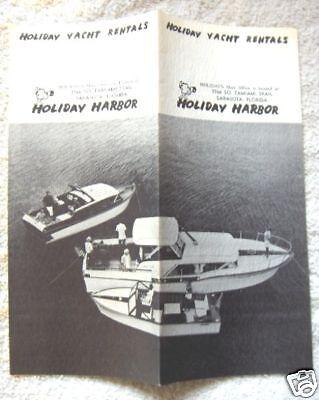 1950's HOLIDAY YACHT RENTAL,SARASOTA,FLORIDA, BROCHURE