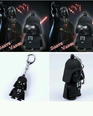 Darth Vader Rubber star wars Key Chain Key Holder with Flash Light & Sound Gift.