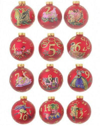 12 days of christmas ornament set ebay - 12 Days Of Christmas Decorations