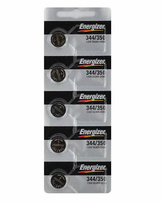 5 Energizer 344 / 350 SR1136SW Watch Batteries