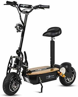 Moto scooter electrico 1600w 55 km/h patinete sillin plataforma madera negro
