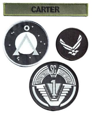 Carter Uniform (Stargate SG-1 Carter Uniform Screen Accurate Patch Set of 4  SIZES 2