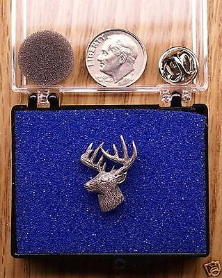 Empire Pewter 3/4 View Deer Head Pin / Tie Tack