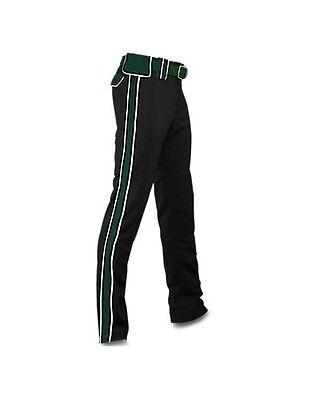 "NWT BOOMBAH D-Series Maxed Black/Green/White SOFTBALL PANTS - 30""x36"""