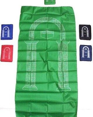 Pocket Portable Travel  Prayer rug Carpet Islamic Assorted Colors Muslim