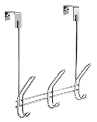 Classico Over the Door Organizer Hooks for Coats Hats Robes Towels  3 Chrome (Hooks For Hats)