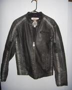 Mens Faux Leather Jacket