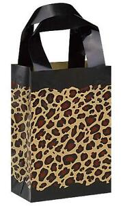 Leopard-Print-Gift-Bags-With-Black-Tissue-Paper-Lot-of-4-Free-Shipping