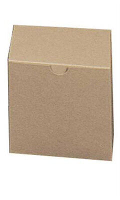 Square Kraft Gift Boxes 4l X 4w X 4d Inches - Count Of 100