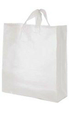 Jumbo Clear Plastic Frosty Shopping Bags 16 X 6 X 19 Inches - Case Of 25