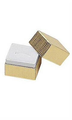 Jewelry Ring Boxes In Gold 1.5 X 1.25 X 1.5 Inches - Case Of 50