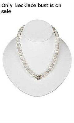 Necklace Bust In Faux Leather 6 34 W X 8 H X 3 12 D For Slatwall