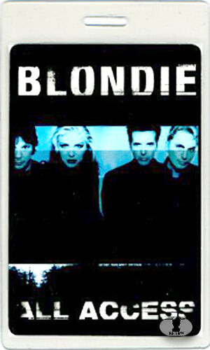 BLONDIE 1999 TOUR LAMINATED BACKSTAGE PASS