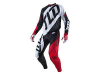 """New 2017 Kids Youth 24"""" M Troy Lee Designs Quest RED/WHITE/BLACK Jersey Pant Kit"""