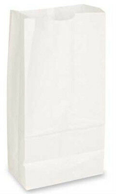 Paper Grocery Bags in White 7 1/16 x 4½ x 13¾ Inches - Case of 1000