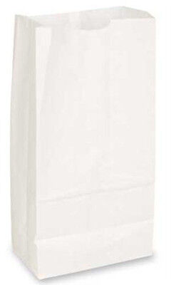 White Paper Grocery Bags 7.0625 x 4.5 x 13.75 Inches - Count of 1000
