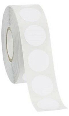 Self Adhesive Labels 34 Dot Circle Stickers White 1000 Labels 1 Roll Blank