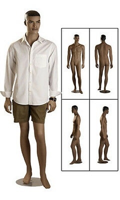New Retails Round Based Fiberglass Full Body Ethnic Male Mannequin 61 Tall