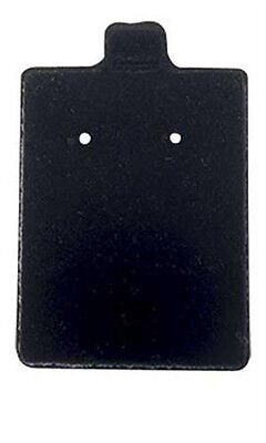 Earring Cards Felt Puffed In Black Finish 1.5w X 1.75 L Inches - Case Of 200