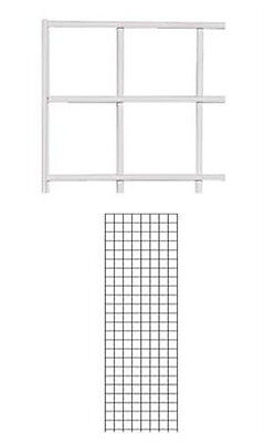 Wire Grid Wall Panel In White 2 X 6 Feet - Pack Of 4