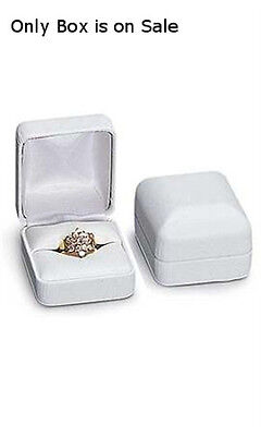 Faux Leather Earring Jewelry Box In White Finish 2 X 1 X 1 Inches - Case Of 10