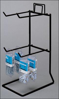 Counter Peg Display Rack - 2 Tier 4 Peg Choice Of Color