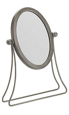"Mirror Countertop Boutique 11 ½"" Tall Glass Jewelry Display Make Up Metel Frame"