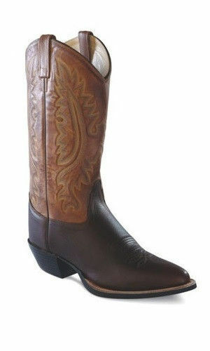 MEN/'S OLD WEST BROWN LEATHER SNIP TOE WESTERN BOOTS MF1529