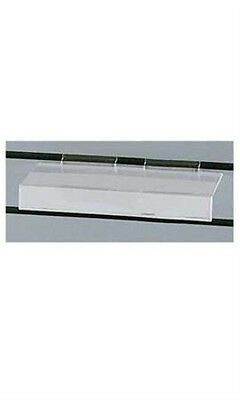 Acrylic Finish Plastic Shelves 4 X 10 Inches For Slatwall - Count Of 10