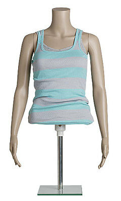 Half Body Mannequin Form Female Adjustable Height 29 To 44 Chest 33