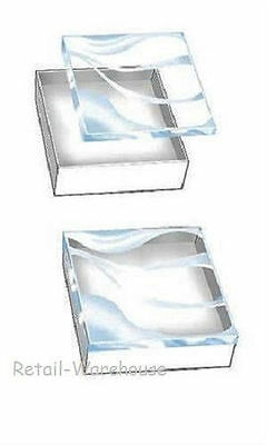 Jewelry Gift Boxes 100 Clear Lid View Top Cotton Filled 3 12 X 3 12 X 1