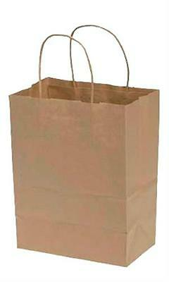 Paper Shopping Bags 250 Kraft Gift Merchandise 8 X 5 X 10 H Recycled Retail