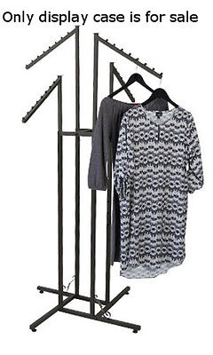 4 Way Boutique Clothing Rack In Vintage 48-72 Inches With Slant Arms