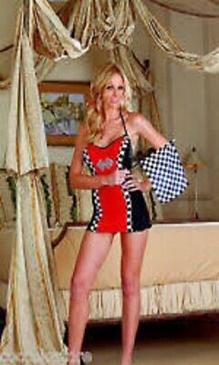 NEW Dreamgirl Sexy Race car Dress Women's Bedroom Costume Adult Womens Costume