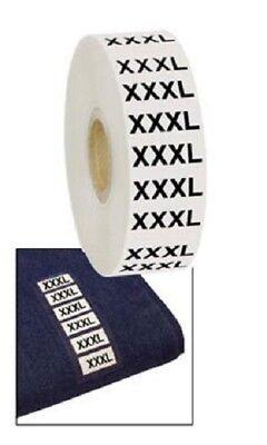 Wrap Around Clothing Size Labels Xxxl Xxx Large 1 X 2 34 Adhesive Strips