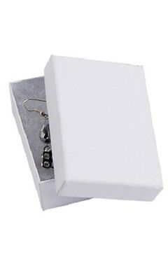 Jewelry Boxes 50 32 White Matte Finish Cotton Filled Retail 3 116 X 2 18 X 1