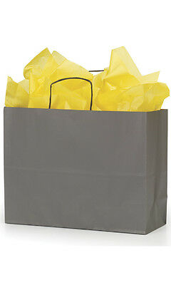 Paper Vogue Shopping Bags 25 Large Grey 16 X 6 X 12 Retail Merchandise Gift