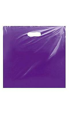 Glossy Jumbo Purple Shopping Merchandise Bags 20x20x5 Lot 25