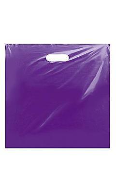 Glossy Jumbo Purple Shopping Merchandise Bags 20x20x5 Lot 25