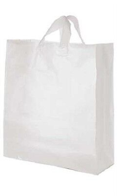 """Clear Bags Plastic 200 Retail Merchandise Shopping Frosted Frosty  16"""" x 6 x 19"""""""