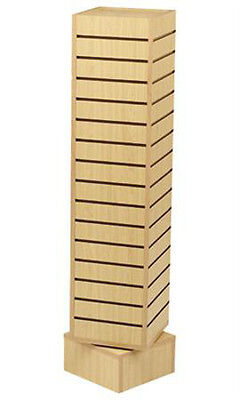 New Retails Maple Rotating Slatwall Tower With 6h Base 12l X 12w X 54h