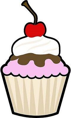 30 Custom Cherry Cupcake Personalized Address Labels