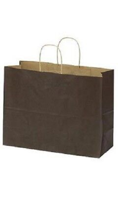 Brown Paper Bags 25 Retail Shopping Merchandise Gift Kraft 16 X 6 X 12 Vogue