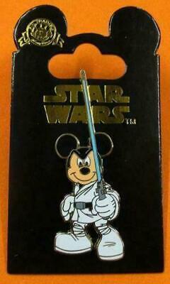 Disney Pin  DLRP Mickey Mouse as Jedi Luke Skywalker Star Wars NOC
