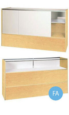 Jewelry Display Showcase In Maple 38h X 18d X 70l Inches Fully Assembled