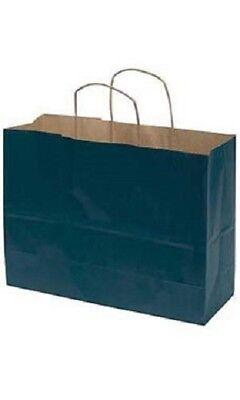 Paper Shopping Bags 25 Large Navy Blue 16 X 6 X 12 Vogue Retail Merchandise