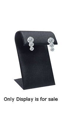 Leatherette Earring Displayer In Black 1 34 W X 2 L X 4 H Inches - Case Of 10