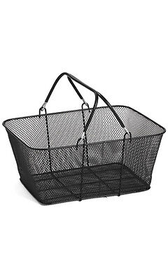 New - 12 Black Wire Mesh Retail Shop Shopping Basket Carts