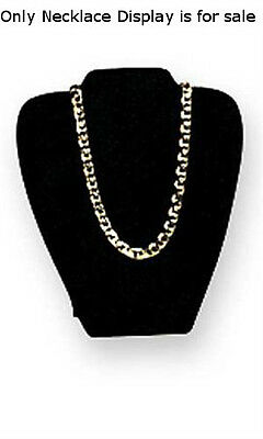 Velvet Padded Necklace Display Easel In Black 7 18w X 8 38h Inch - Lot Of 10