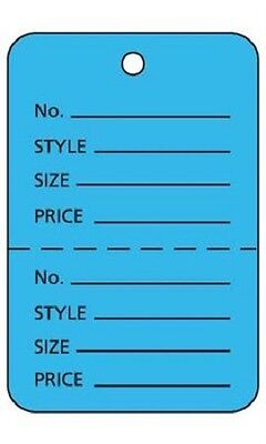 1000 Perforated Tags Price Sale 1 W X 2 H Two Part Blue Coupon Unstrung